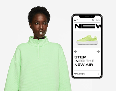 Nike Website UI Concept