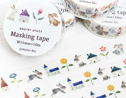 """Masking Tape of Town of Rabbits"""