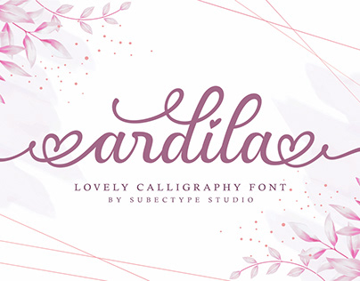 Ardila / Lovely Calligraphy Font