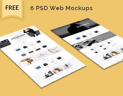 free web template mockup