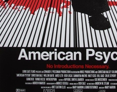 American Psycho - Movie Poster