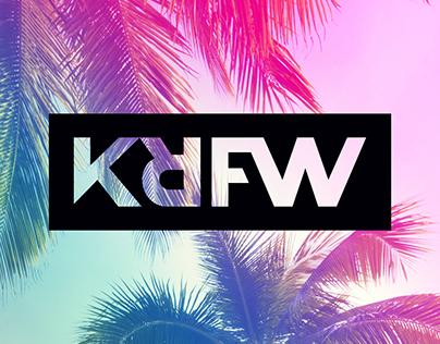KRFW logo/brand design