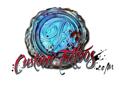 BlueBlood Custom Tattoos Brand Identity Package