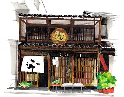 Japanese Architecture - illustration