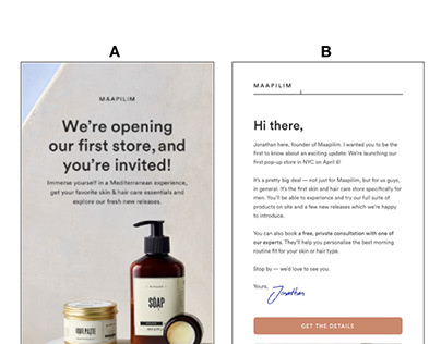Email Marketing A/B Testing For DTC Male Grooming Brand