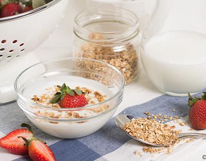 Strawberries & yogurt
