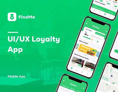 FindMe   UI/UX Loyalty App