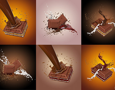 Chocolate commercial concept