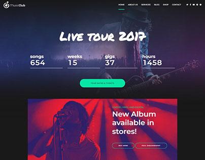 Music Club - Music, Band, Studio & DJ WordPress theme