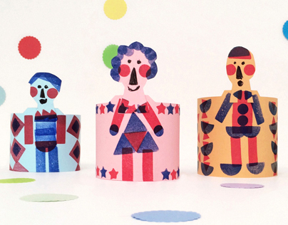 How to make a paper family. Workshop.