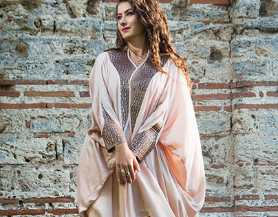 leather Kaftans for arabic bloggers