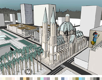 Catedral da Sé - Final Term Perspective (Axis/Gnomon)