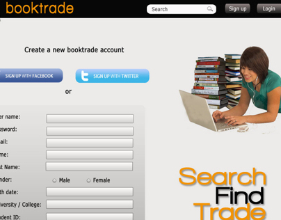 Booktrade website design