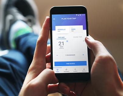 Travel booking Screen: Mobile UI Design
