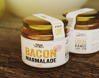 Janice Beaton Bacon Marmalade Labels