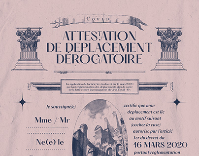 COVID-19 Attéstation de Déplacement Dérogatoire