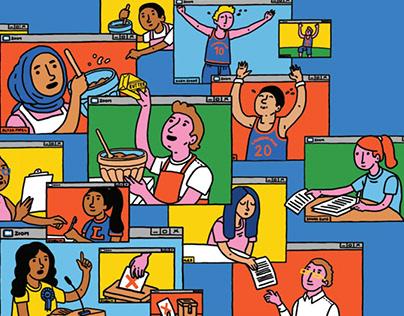 Editorial Illustrations for school magazine
