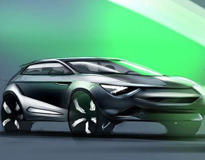 Vehicle design sketches
