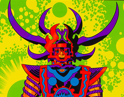 Quot Lord Of Light Quot Jack Kirby Prints For Heavy Metal On Behance
