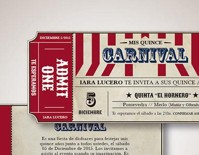 • Invitaciones: CARNIVAL •