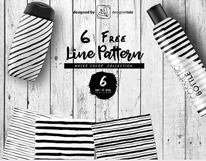 Hand made line pattern free vector eps template