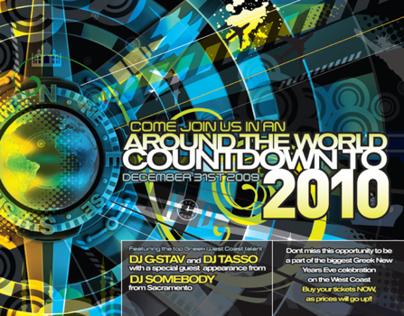 Around the World NYE flyer   2010