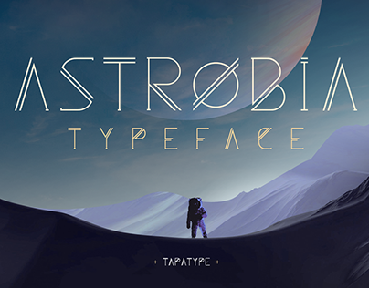 Astrobia - Space Font Family
