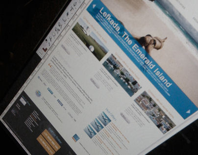 Travel Agency Website Mock-Up