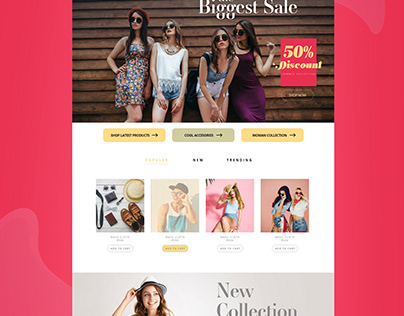 Fashion Ecommerce | UI/UX design
