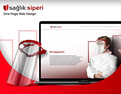 Sağlık Siperi, One Page Web Design