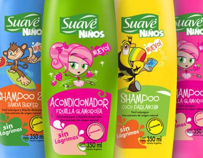 Diseño de personajes Shampoo Suave Niños
