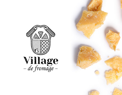 Craft french cheese logo and identity