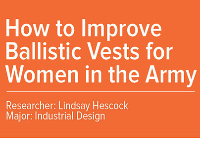Research Poster - Ballistic Vests for Women in the Army
