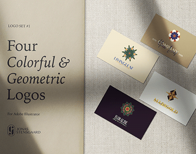 Four Free Colorful & Geometric Logos