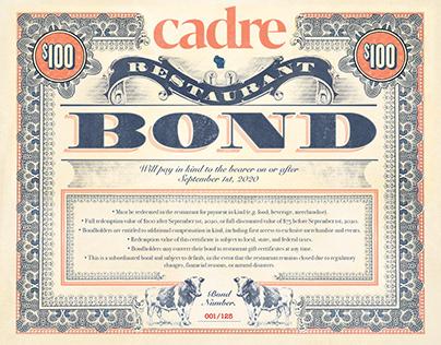 Cadre Restaurant Bond & Posters