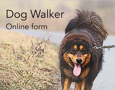 Dog walker online form