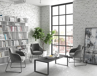 3D Modeling for Chairs in a Stylish Office