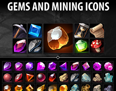 Gems and Mining Icons