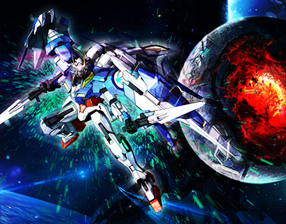 Gundam themed joystick art