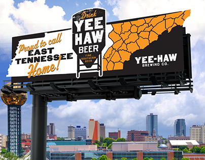 Yee-Haw Brewing Co. Billboard Concepts