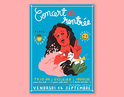 Concert de Rentrée // poster
