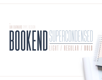 BOOKEND Supercondensed Typeface
