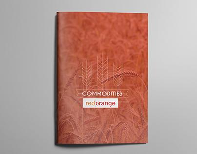 Red Orange commodities brochure design