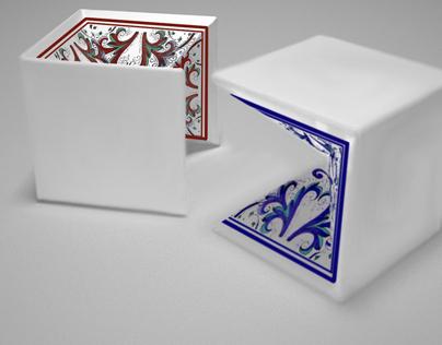 Mezz' Albero, eco ceramic stool side table