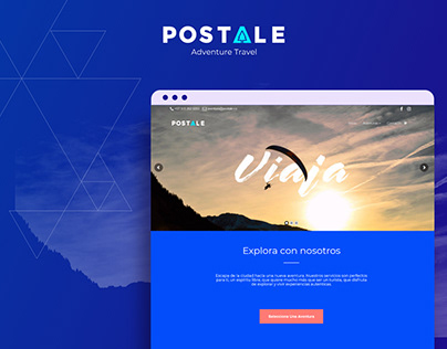 Postale - Adventure travel agency - Web Design
