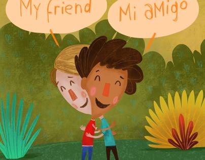 My friend, mi amigo bilingual book