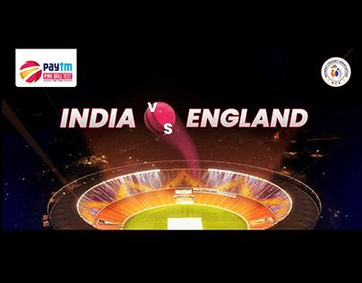 India vs England Paytm test series banner design