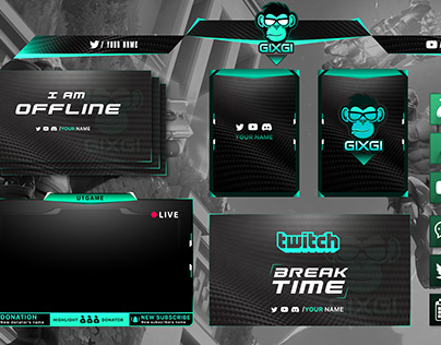 Twitch overlay Design | Full Stream Package
