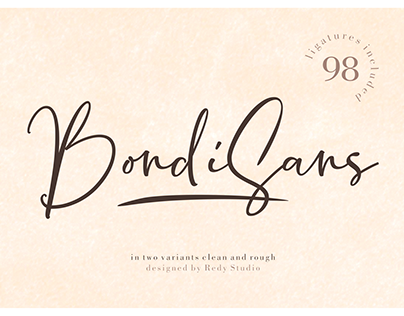 2 Variants | BondiSans