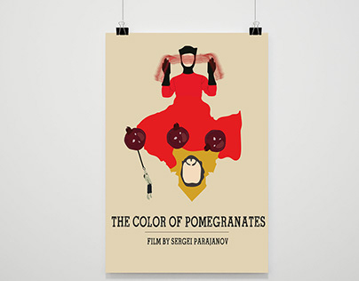 THE COLOR OF POMEGRANATES POSTER DESİNG